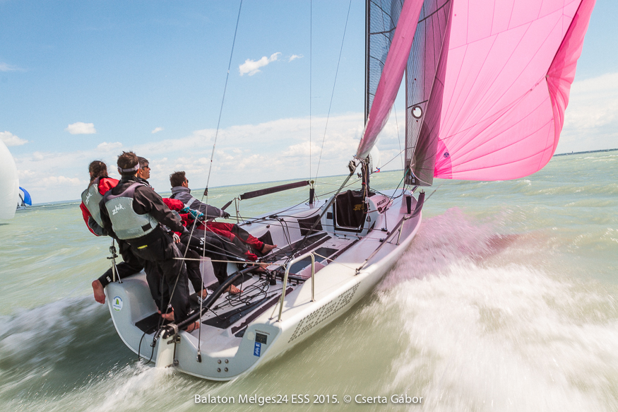 Balaton Melges 24 Spring Regatta - Attila Bujaky and Hód (HUN-589) - photo Gabor