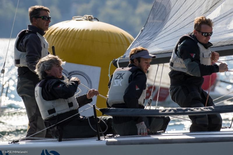 Franco Rossini's Blu Moon SUI825 with Flavio Favini helming - photo BPSE/Mauro M