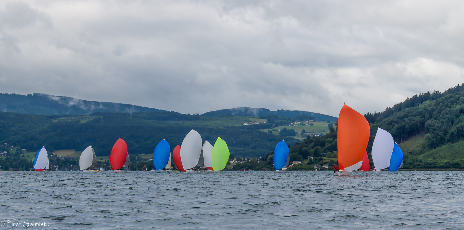 Melges 24 fleet on Lake Attersee 2016