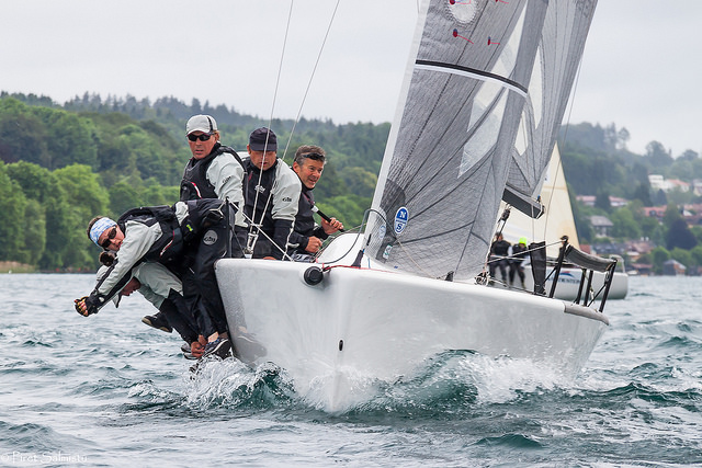 Miles Quinton's Gill Race Team GBR694 on Lake Attersee, June 2016 - photo Piret