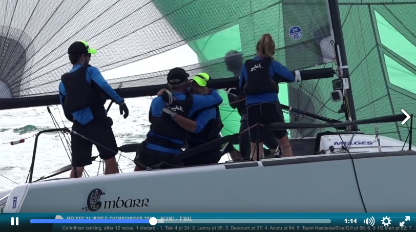 Melges 24 Worlds 2016 - Day 5 video