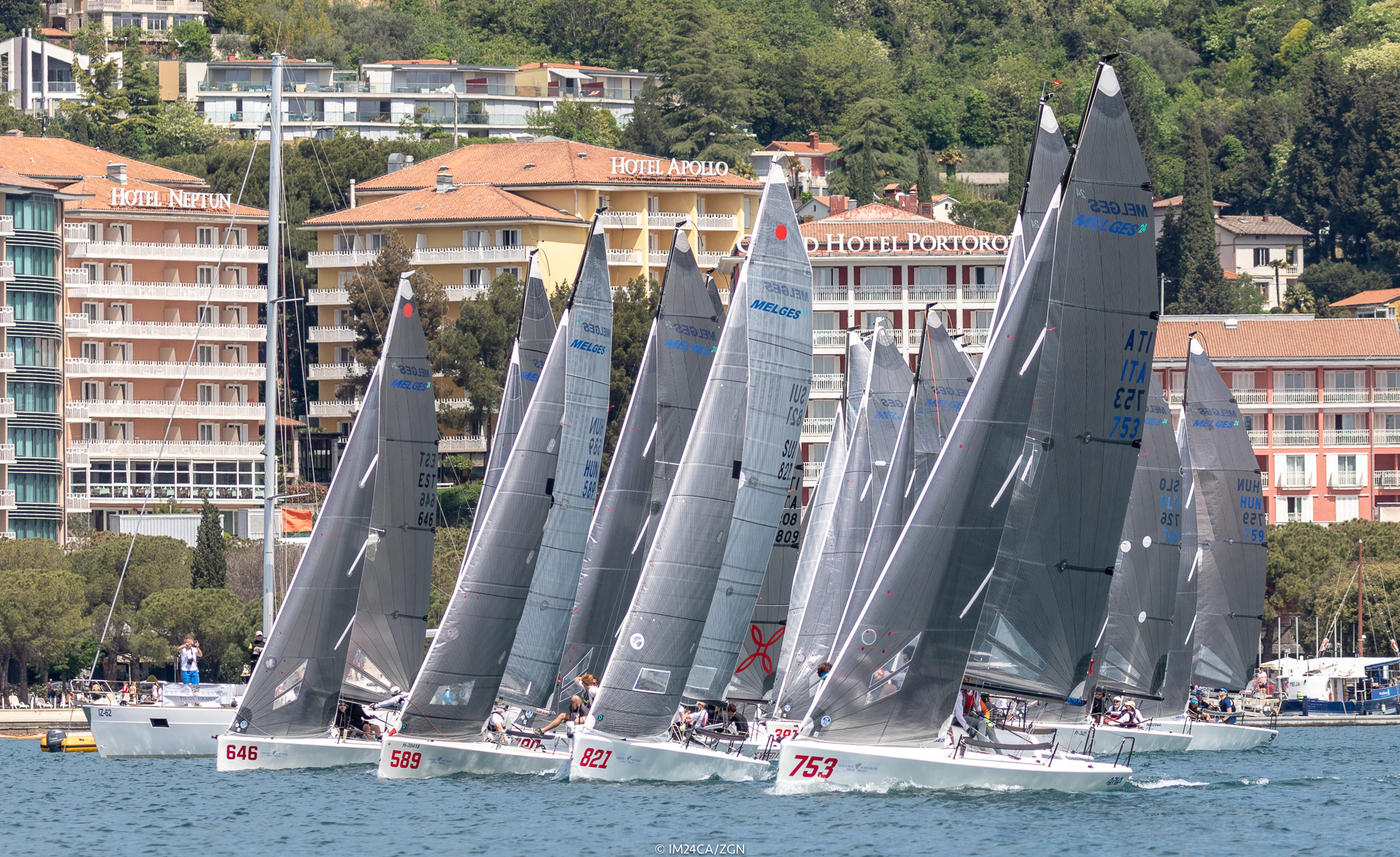 Melges 24 fleet in Portoroz 2018 - ZGN