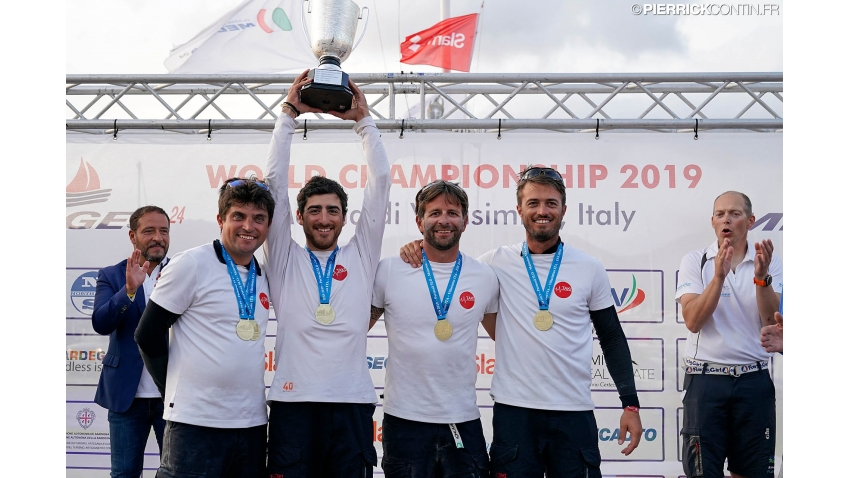 2019 - the winner of the Melges 24 European Sailing Series Corinthian Trophy - Taki 4 of Marco Zammarchi with Niccolo Bertola in helm