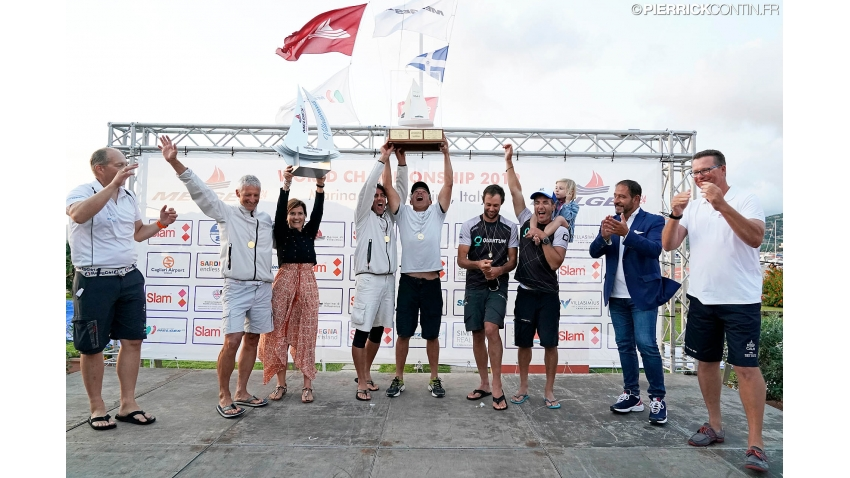 2019 Melges 24 World Champion - Maidollis ITA854 of Gianluca Perego with Carlo Fracassoli, Enrico Fonda, Stefano Lagi and Matteo Ramian.