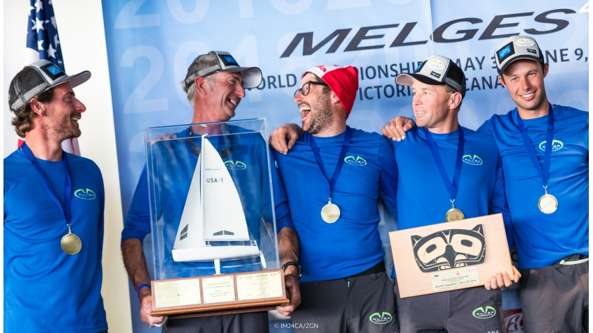 2018 Melges 24 World Champion - Altea ITA722 of Andrea Racchelli with Filippo Togni,  Gaudenzio Bonini,  Matteo Ramian  and Michele Gregoratto