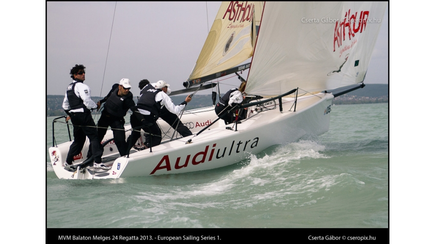 Audi Ultra ITA819 of Riccardo Simoneschi - 2013 MVM Balaton Melges 24 Regatta - European Sailing Series Event 1