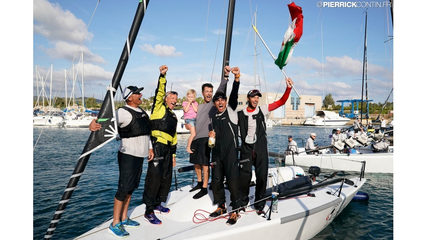 2019 Melges 24 World Champion - Maidollis ITA854 of Gianluca Perego with Carlo Fracassoli at the helm and Enrico 'Chicco' Fonda, Stefano Lagi, Matteo Ramian as crew