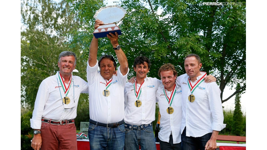 Blu Moon SUI825 of Franco Rossini with Matteo Ivaldi at the helm - Melges 24 European Champion 2014 with Giorgio Zuccoli Trophy