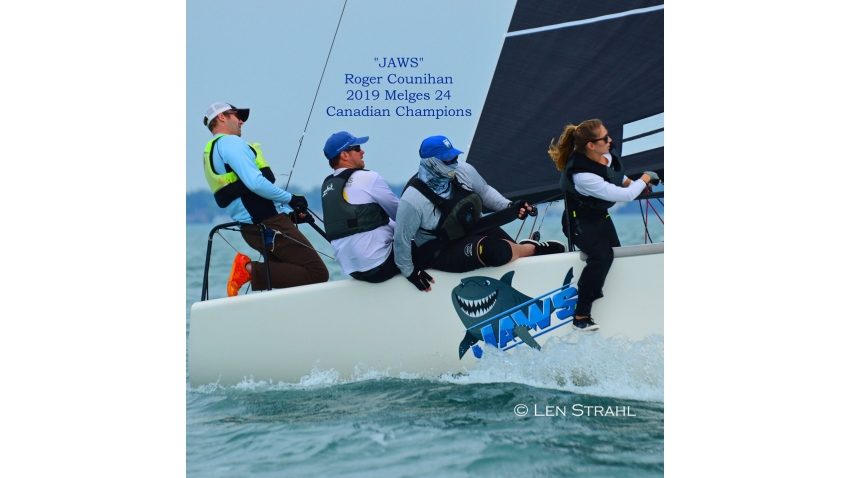 "USA-775 ""Jaws"" with Roger Counihan on helm - 2019 Canadian Melges 24 Champion"