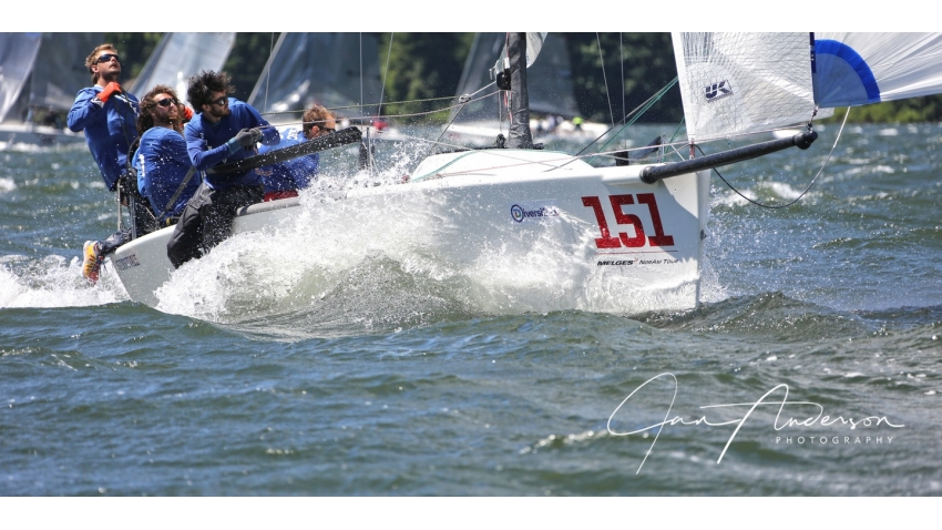 Fraser McMillan's Sunnyvale CAN151 at the 2017 Melges 24 North American Championship