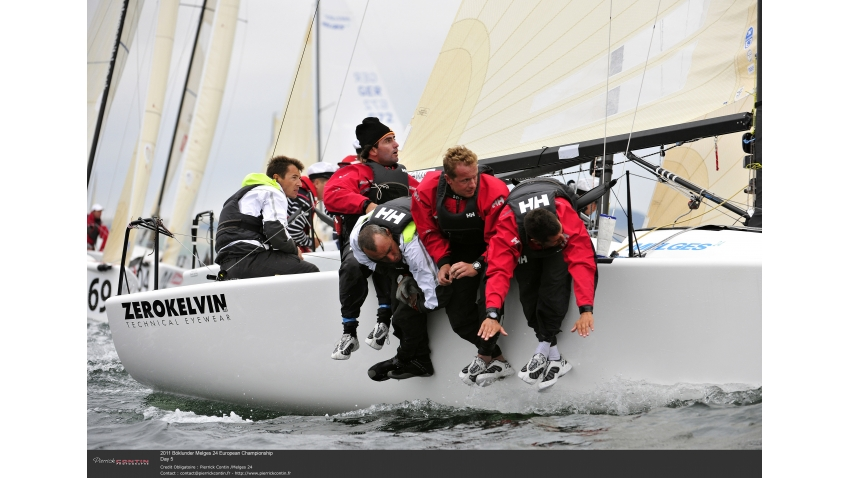 2011 Melges 24 European Champion - Gullisara ITA803 with Carlo Fracassoli at the helm