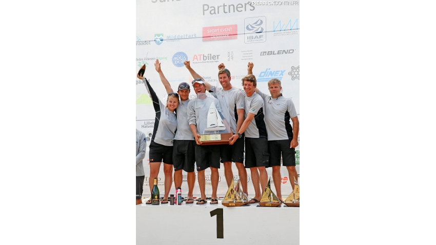 Melges 24 World Champion 2015 - EFG SUI684 of Chris Rast with Udo Moser, Patrick Zaugg, Pavel Johannes Tolonen, Reneé Schenk and Dani Rast- Middelfart, Denmark
