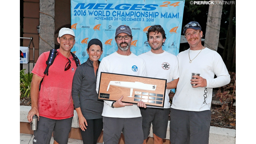 Zarko Draganic Trophy - New England Ropes USA658 owned by Tim Healy - 6th in overall at the Melges 24 World Championship 2016 in Miami, USA