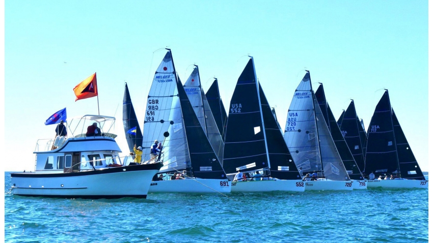 Melges 24 fleet at the 2019-2020 Bacardi Winter Series Event #2 in Miami