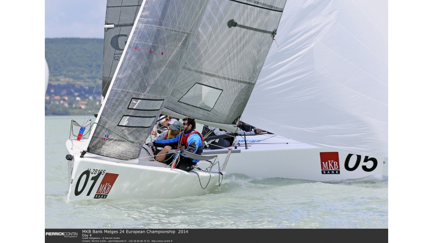Ian Ainslie, Adam Martin, Paul Wilcox and Botond Weöres - 3rd in overall at the 2014 Melges 24 European Championship in Balatonfüred, Hungary