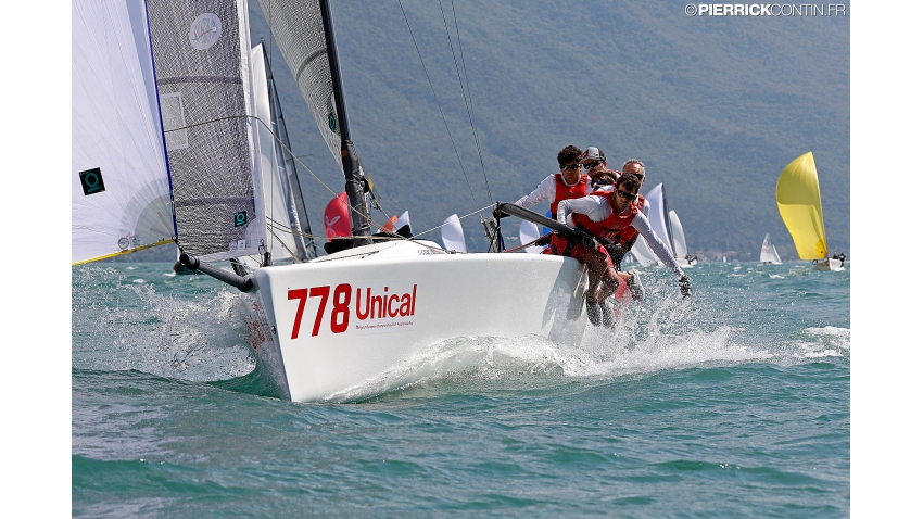 Taki 4 ITA778 of Marco Zammarchi with Niccolo Bertola in helm  - 2018 Melges 24 Corinthian European Champion in Riva de Garda, Italy