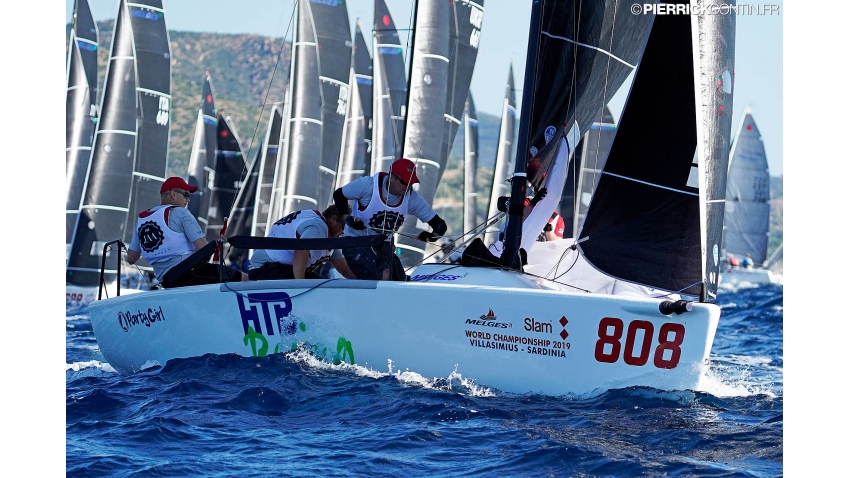Jens Wathne and his Party Girl NOR808 - 2019 Melges 24 World Championship - Villasimius, Sardinia, Italy