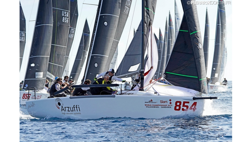 2019 Melges 24 World and 2018 European Champion Maidollis of Gianluca Perego with Carlo Fracassoli at the helm.