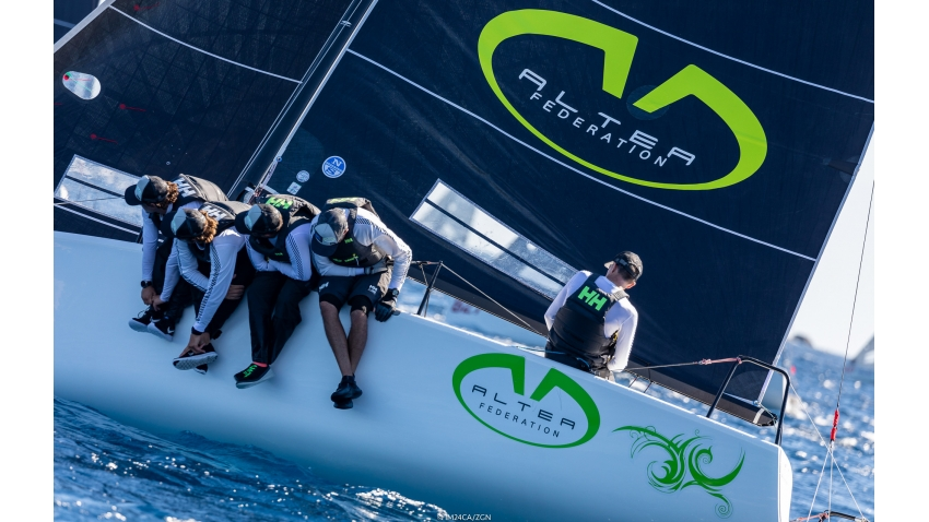 2018 Melges 24 World Champion Andrea Racchelli sailing Altea