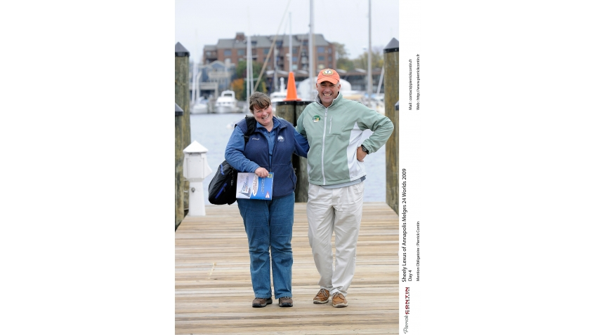 Fiona Brown and Hank Stuart - 2009 Melges 24 Worlds in Annapolis, USA