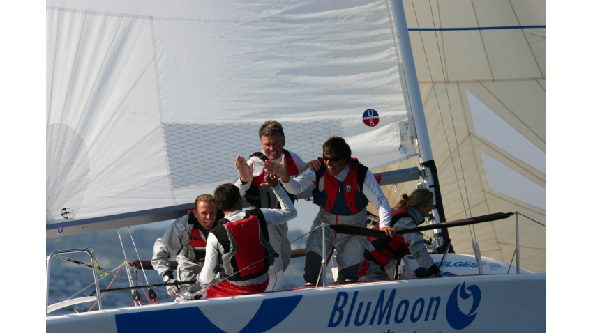 Blu Moon SUI521 of Franco Rossini at the 2007 Melges 24 European Championship held in association with Rolex Baltic Week