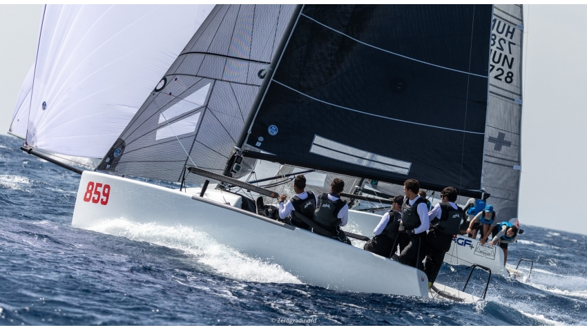 Peter Karrie's Nefeli GER859 at the 2019 Melges 24 Pre-Worlds in Villasimius, Italy
