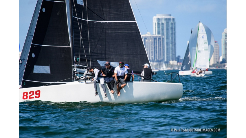 Peter Duncan's team on Relative Obscurity was the only team to  post a perfect scoreline after three days of racing in St. Petersburg NOOD Regatta 2020