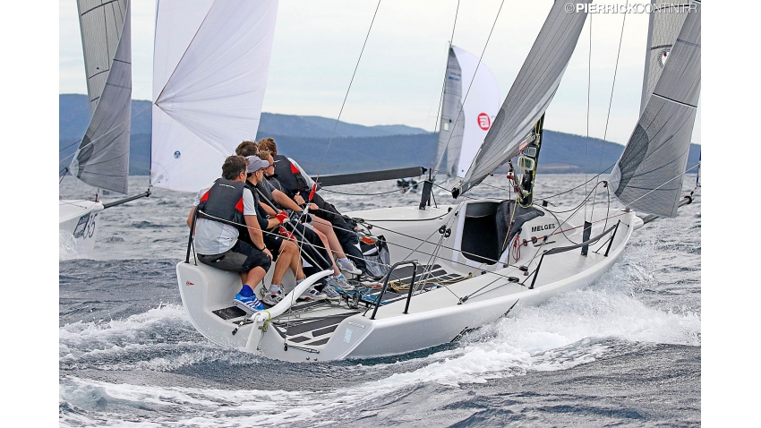 New Tricks GBR546 of Ben Stone - 2019 Melges 24 World Championship - Villasimius, Sardinia, Italy