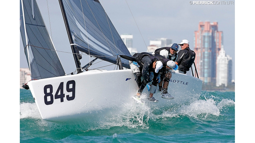 Brian Porter - Full Throttle USA849 at the 2016 Melges 24 Worlds in Miami