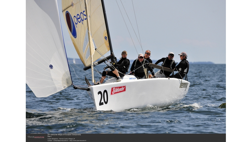 Lenny EST790 of Tõnu Tõniste at the 2011 Böklunder Melges 24 Europeans in Aarhus, Denmark