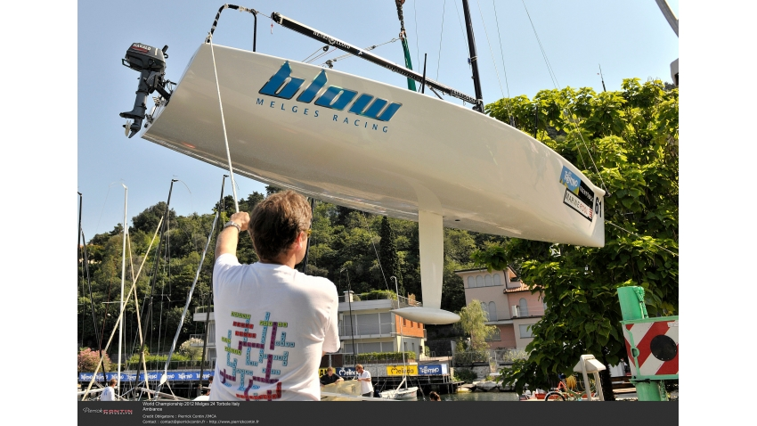Blow NOR787 of Peder Nergaard - 2012 Melges 24 World Championship - Torbole, Italy