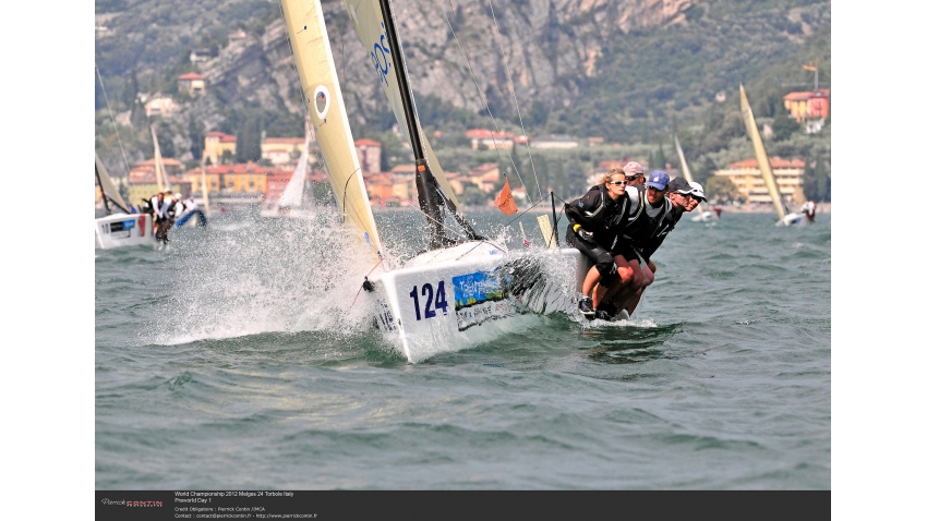 Lenny EST790 of Tõnu Tõniste at the 2012 Melges 24 World Championship in Torbole, Lake Garda, Italy
