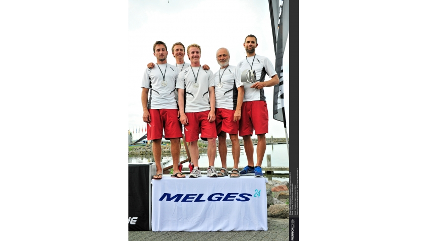 Martin Trcka, Pavel Bobek, Zdenek Jirkovec, Ondrej Bobek, Martin Rozsypal - Silver with ICZ CZE704 at the 2013 Magic Marine Melges 24 Europeans in Medemblik, the Netherlands