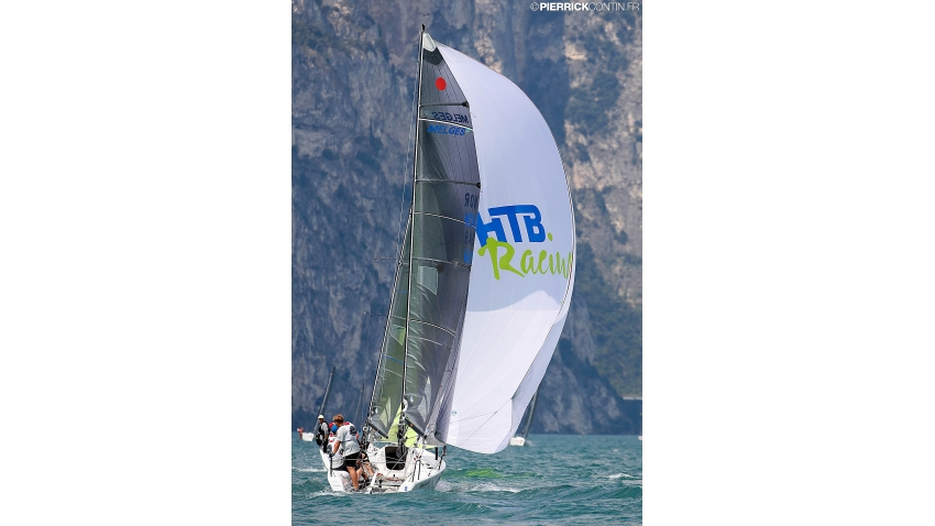 Party Girl NOR649 of Jens Wathne - 2018 Melges 24 European Championship, Riva del Garda, Italy