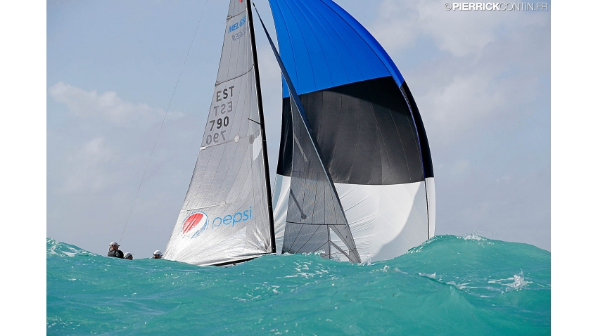 Lenny EST790 of Tõnu Tõniste at the 2016 Melges 24 World Championship in Miami, USA