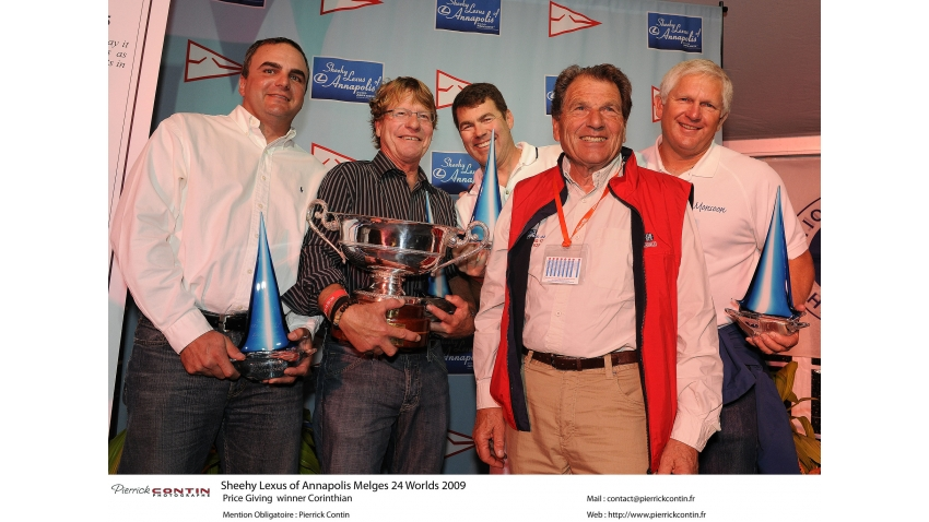 Bruce Ayres and his team of Monsoon - Melges 24 Corinthian World Champion 2009