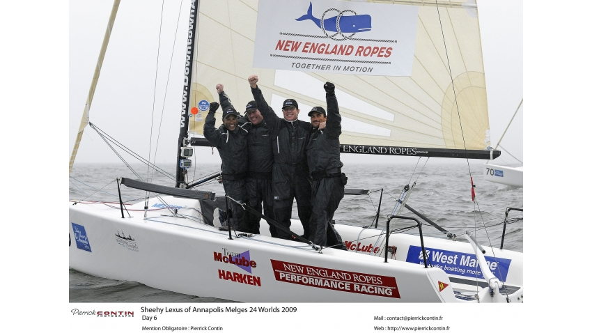 Chris Larson, Richard Clarke (CAN), Mike Wolfs (CAN), Curtis Florence (CAN) - 2009 Melges 24 World Champions on West Marine / New England USA655