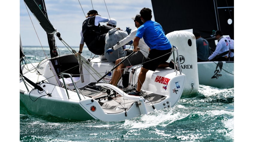 Bora Gulari and his team of Kyle Navin, Norman Berg, Ian Liberty and match racing superstar Taylor Canfield - 2020 Bacardi Cup Invitational Regatta