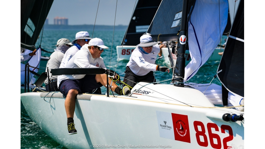 3 1/2 Men of Steve Suddath with Steve Burke, Shawn Burke and Jack Smith - 2020 Bacardi Cup Invitational Regatta