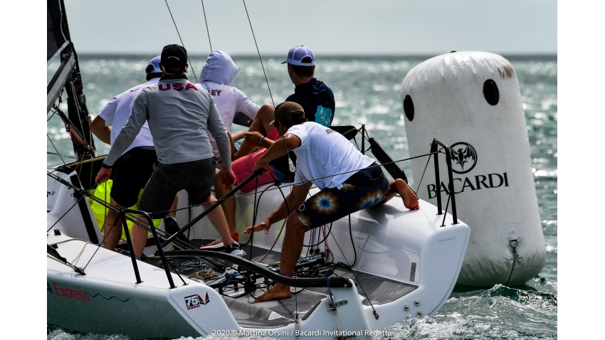 Zenda Express with Harry Melges IV at the helm - 2020 Bacardi Cup Invitational Regatta