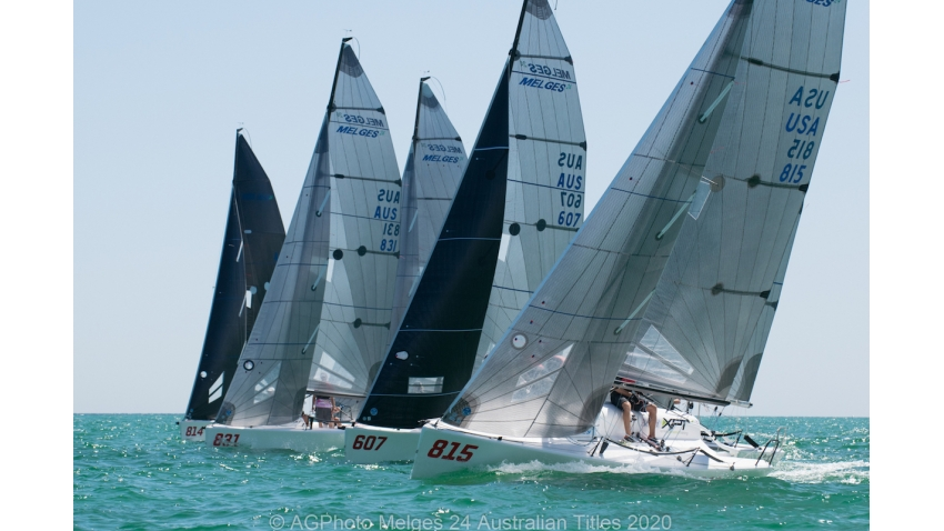 Adelaide has provided some great conditions on the opening day of racing - 2020 Melges 24 Australian Titles