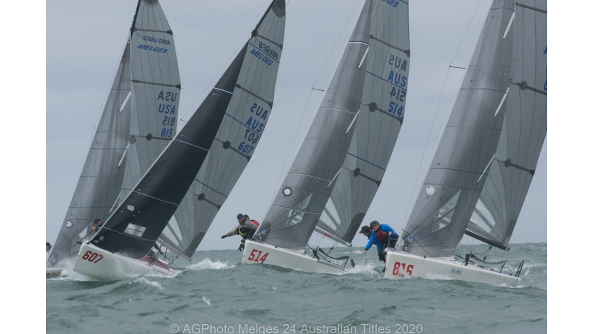 It was a windy day to finish off the 2020 Melges 24 Australian Nationals at Adelaide Sailing Club
