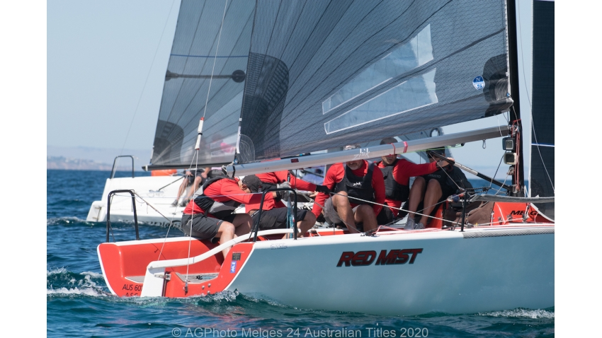 Robbie Deussen's Red Mist leads the Melges 24 Nationals after the first day - 2020 Melges 24 Australian Titles