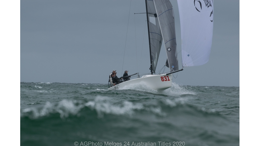 Sandy Higgins and the Scorpius team finished second overall in the 2020 Melges 24 Nationals