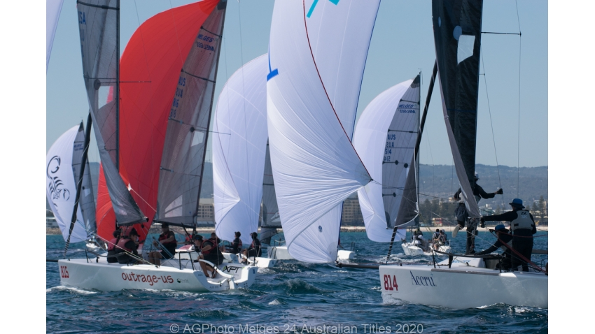 The racing in the Melges 24 Nationals has been extremely close - 2020 Melges 24 Australian Titles