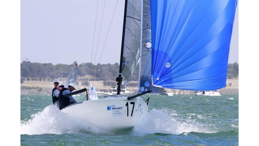 Star USA841 - Harry Melges, Federico Michetti, Andy Burdick, Jeff Ecklund - 2nd at the 2014 Melges 24 Worlds - Geelong, Australia