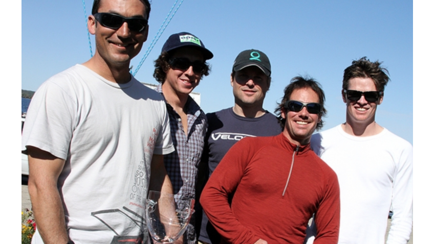 Bora Gulari and his New England Ropes crew comprising tactician Jeremy Wilmot, George Peet, Dan Kaseler and Chris Fortine - 2011 Melges 24 US National Champions