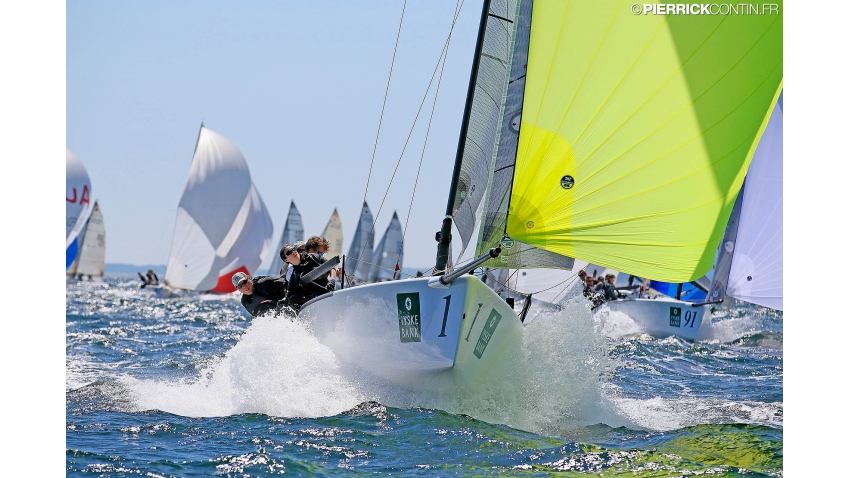Gill Race Team GBR694 of Miles Quinton with Geoff Carveth at the helm and Nigel Young, Catherine Alton and William Goldsmith - 2015 Melges 24 World Championship, Middelfart, Denmark