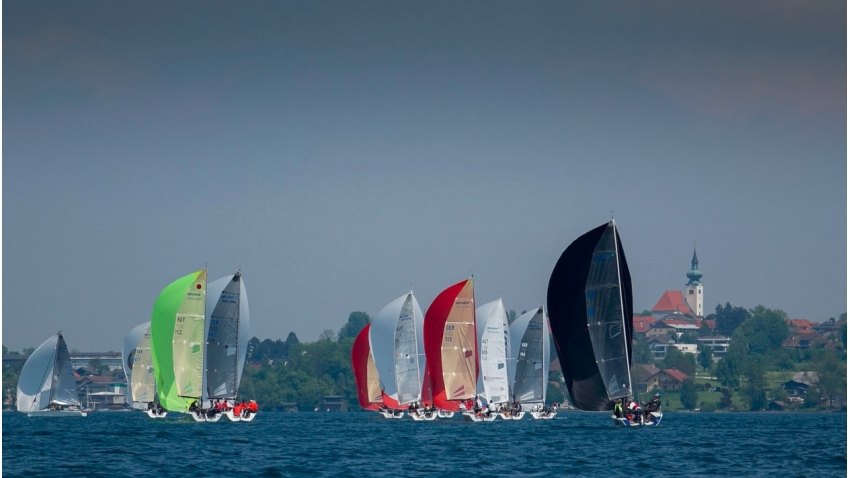 Melges 24 regatta in Kammersee on Attersee