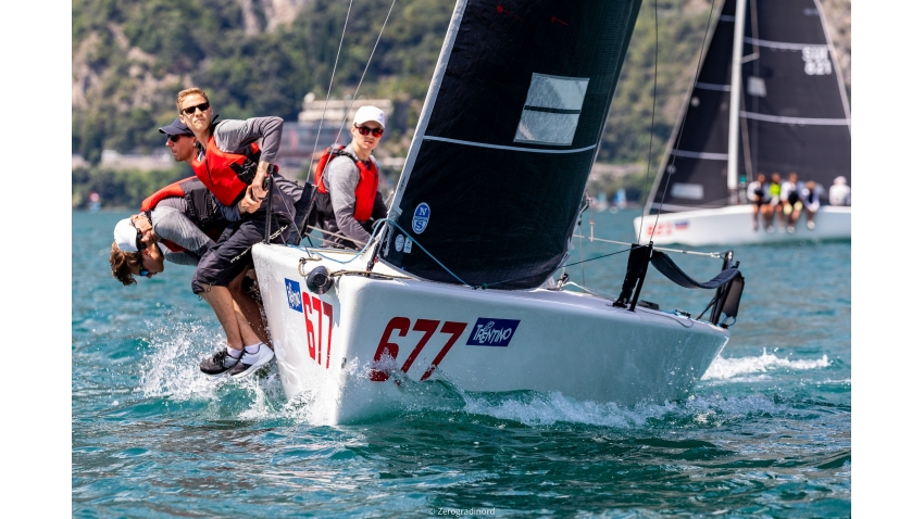 White Room GER677 of Michael Tarabochia - 2020 Melges 24 European Sailing Series Event #1 in Torbole, Italy